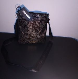 Black and gold Steve Madden purse
